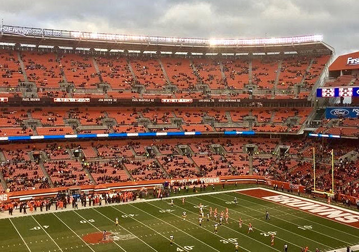 empty cleveland browns stadium