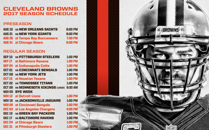 Cleveland Browns 201 NFL schedule