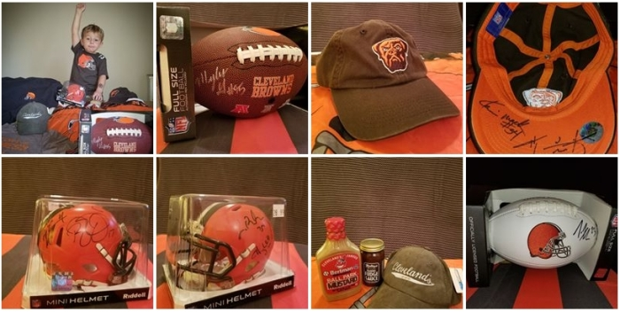 Browns Backers raffle Prizes
