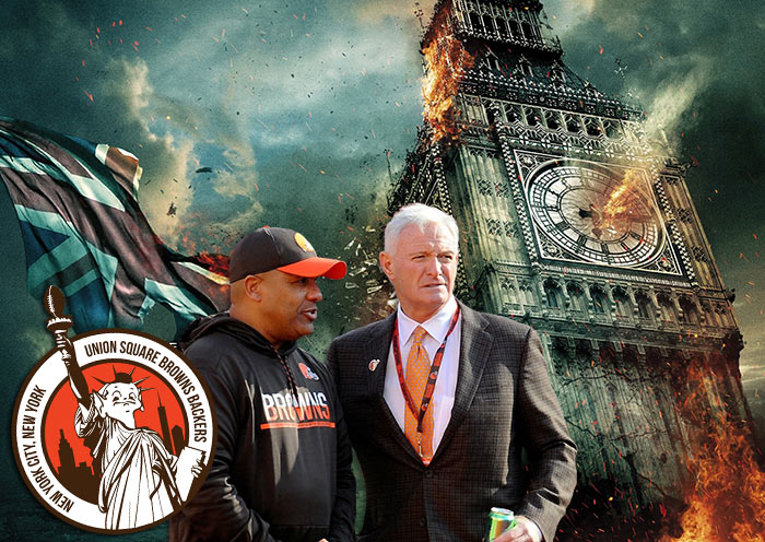 Cleveland Browns Burning London to the Ground