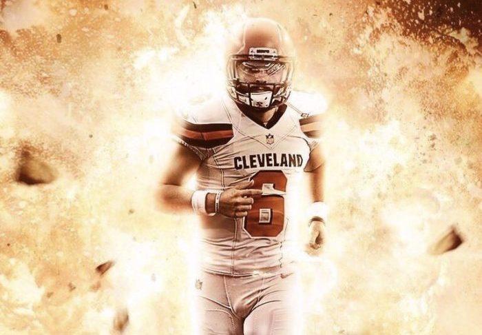 Baker Mayfield runs through an explosion Cleveland Browns