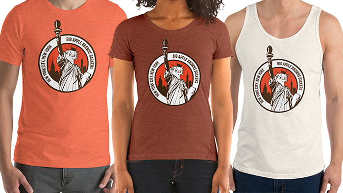 Tshirts for Big Apple Browns Backers of NYC